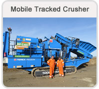 mobile tracjed crusher